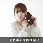 切れ毛が酷く多い原因はコレ!抜け毛も増えてくるので要注意!