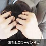 薄毛の原因はAGAだけじゃない!コラーゲン不足も要注意!